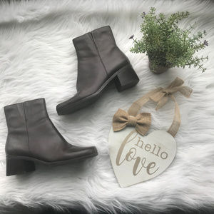Madeline Stuart Brown Leather Zip Ankle Boots
